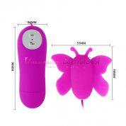 Вибромассажер мини бабочка с крылышками из силикона, 12 режимов вибрации