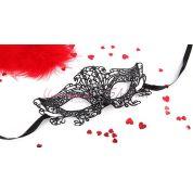 Ажурная маска на глаза марлен черного цвета