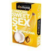 """Презервативы """"DOMINO"""" SWEET SEX TROPICANA (оральные) 3 шт"""